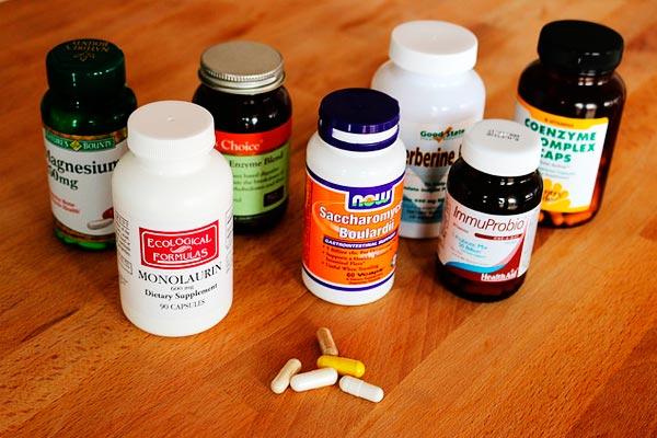 Comprimidos da dieta e suplementos