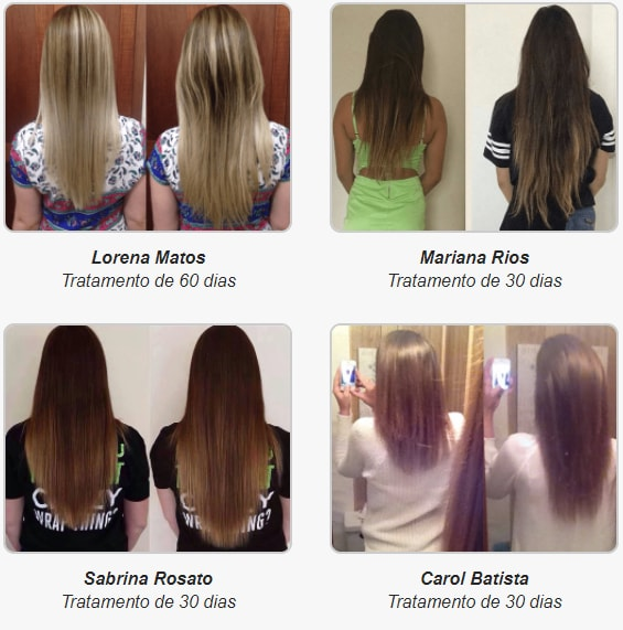 antes e depois de luminus hair