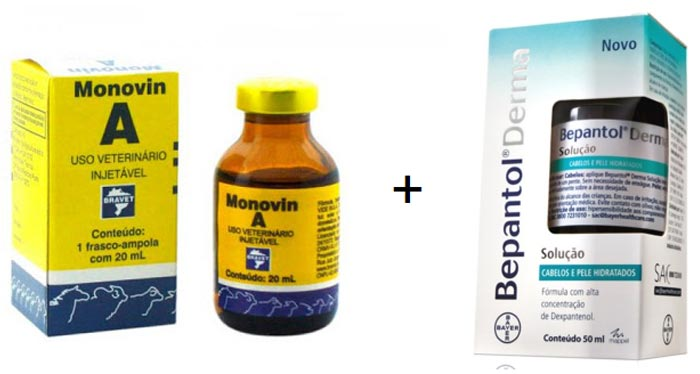 receita de shampoo + bomba monovin A + Bepantol